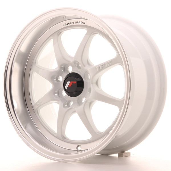 "Llanta JAPAN RACING TFII 7,5 X 15"" (4XMULTI) ET10 White"